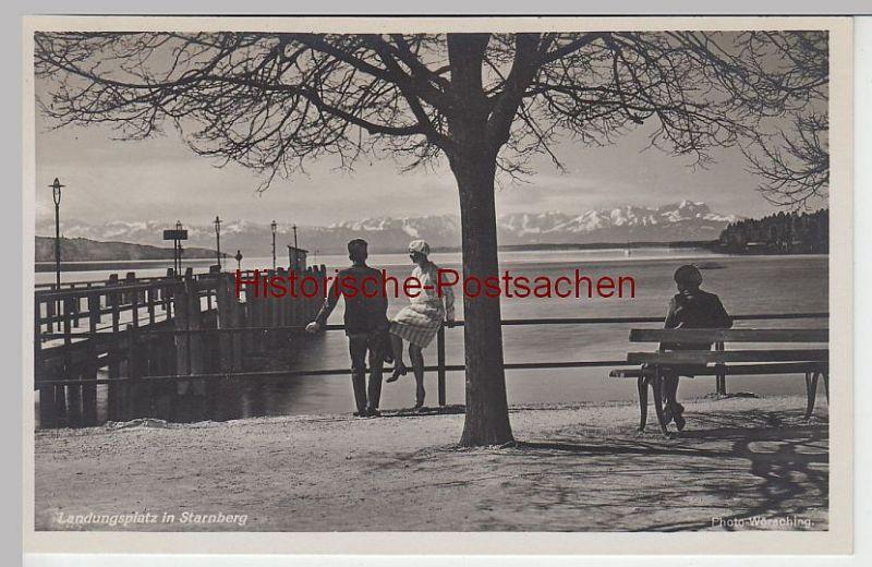 (43735) Foto AK Starnberg, Landungsplatz am Starnberger See, vor 1945