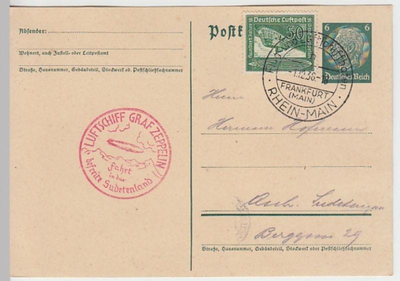 (Z5) Zeppelinpost Sudetenland Fahrt 1938