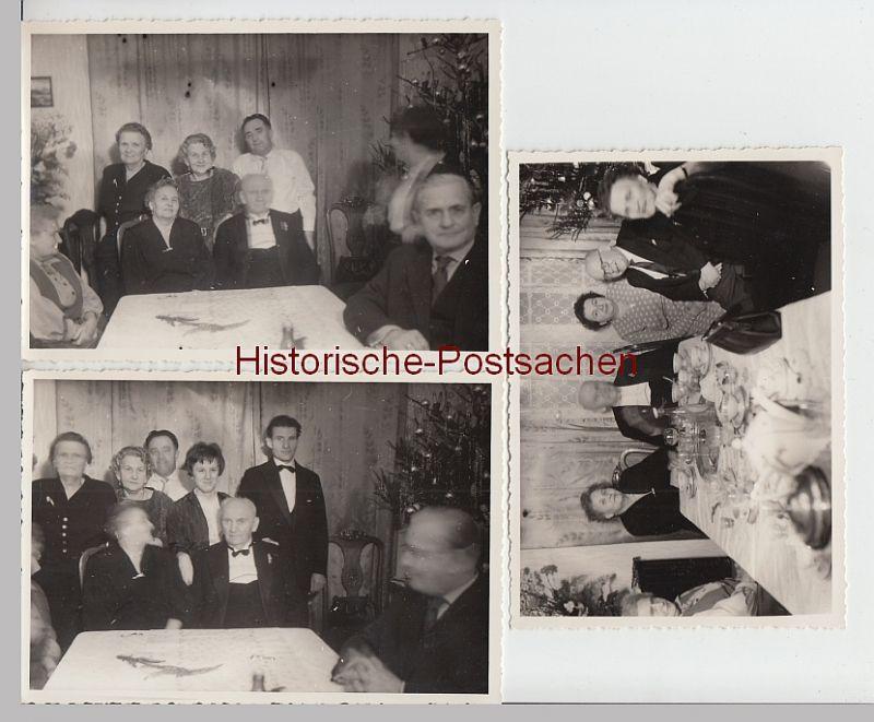 (F5264+) 3x Orig. Foto Berlin, Feier Goldene Hochzeit 1959