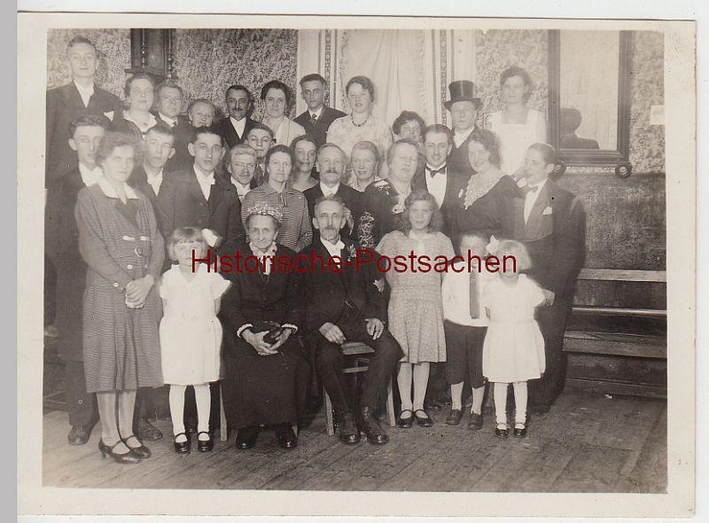 (F4976) Orig. Foto Goldene Hochzeit, Gruppenbild 1932