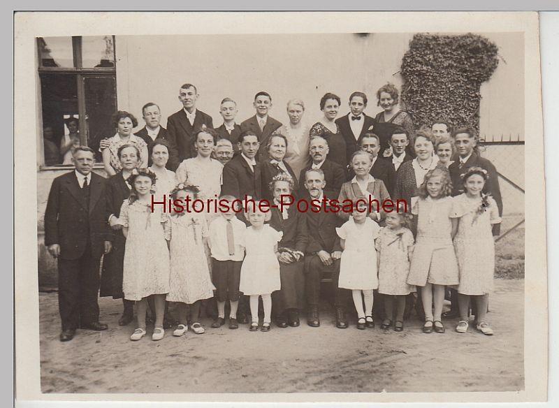 (F4977) Orig. Foto Goldene Hochzeit, Gruppenbild 1932