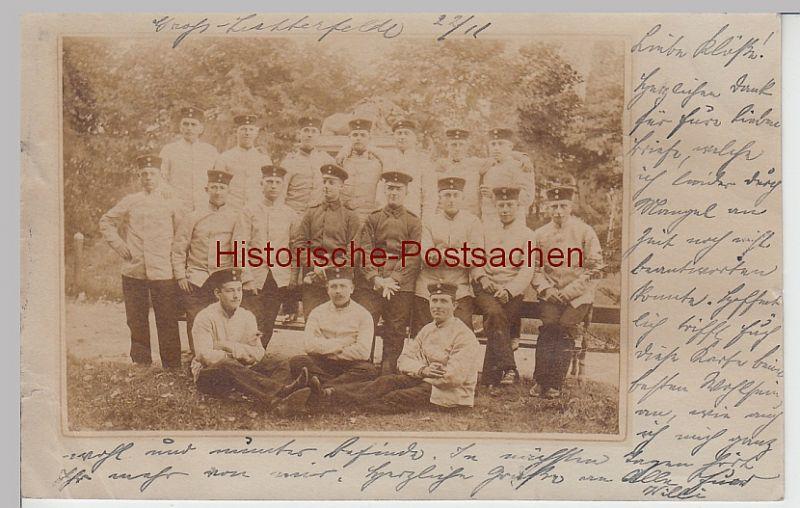 (F5315) Orig. Foto Groß-Lichterfelde, Soldaten, Gruppenfoto 1900