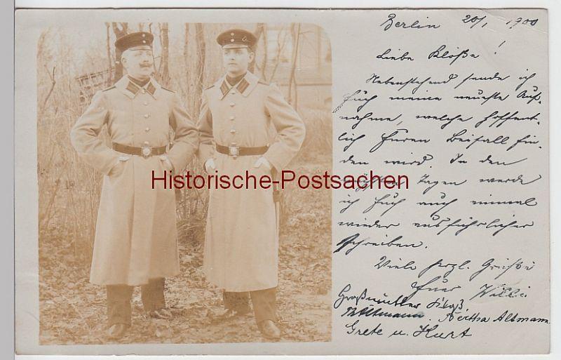 (F5316) Orig. Foto Berlin, Soldaten, Offiziere im Freien 1900