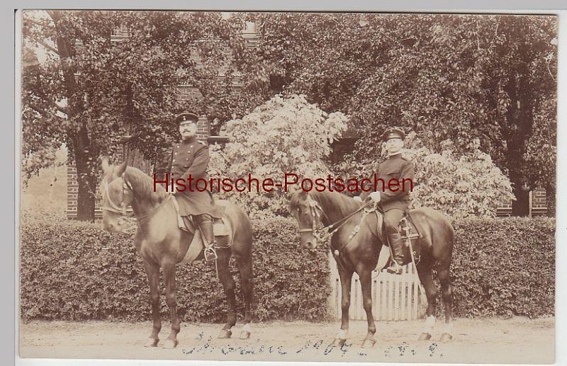 (F6080) Orig. Foto Reiter in Uniform in Straelen 1909