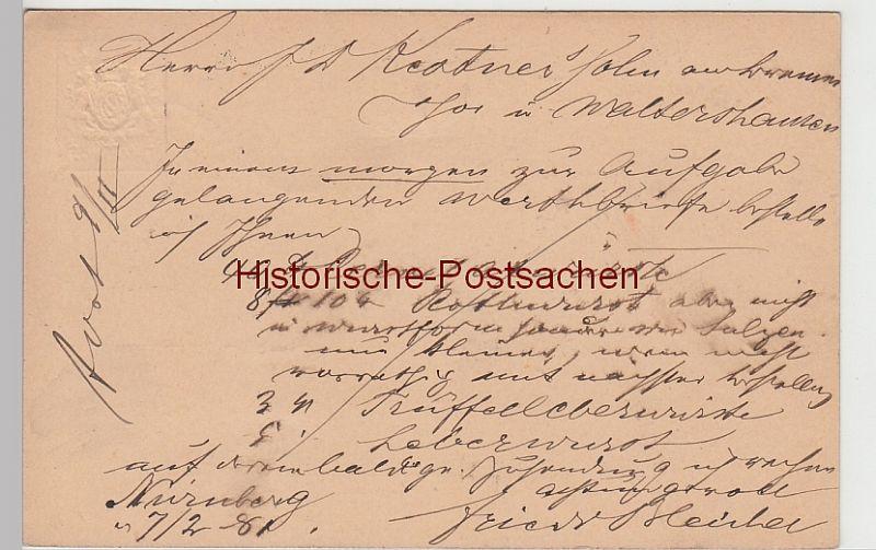 Sammeln & Seltenes Nürnberg Bayern Landesausstellung 1896 Stempel Postkarten Ganzsache Bayern 5 Pf.