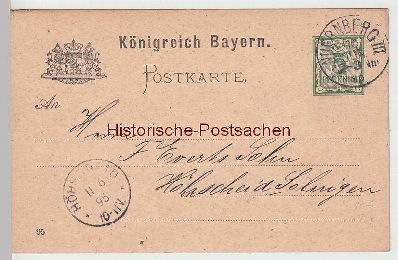 Diverse Philatelie Nürnberg Bayern Landesausstellung 1896 Stempel Postkarten Ganzsache Bayern 5 Pf. Ganzsache
