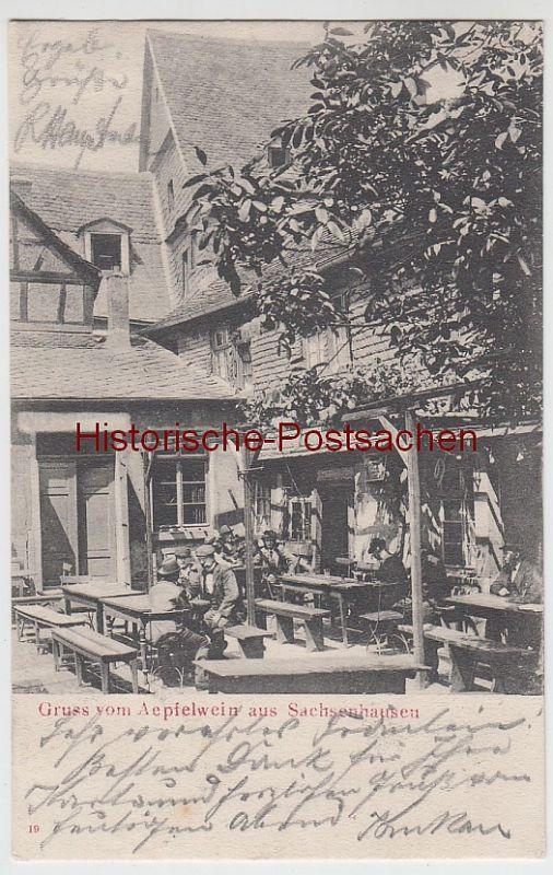 (103859) AK Gruß vom Äpfelwein aus Sachsenhausen, Frankfurt 1905