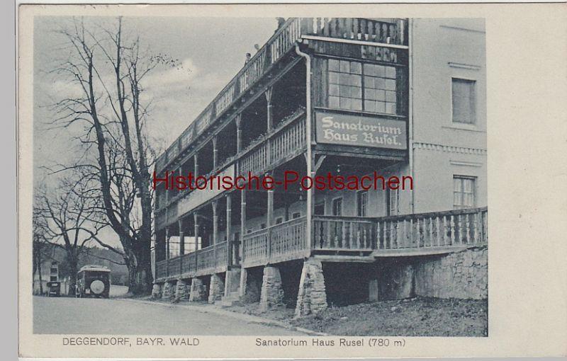 AK Deggendorf Sanatorium Haus Rusel 1931 aus