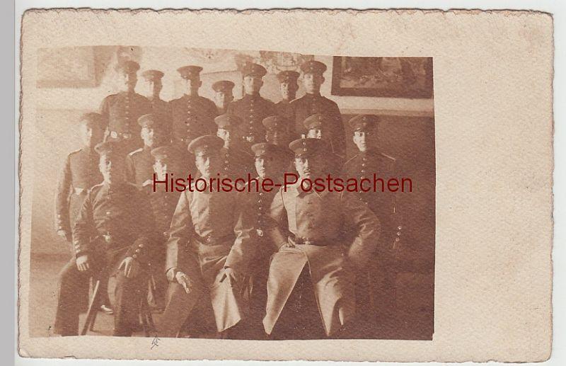 (F7876) Orig. Foto Hamburg Altona, Soldaten, Offiziere im Raum, 1909