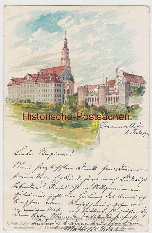 (107020) Künstler AK Donauwörth, Cassianeum 1900