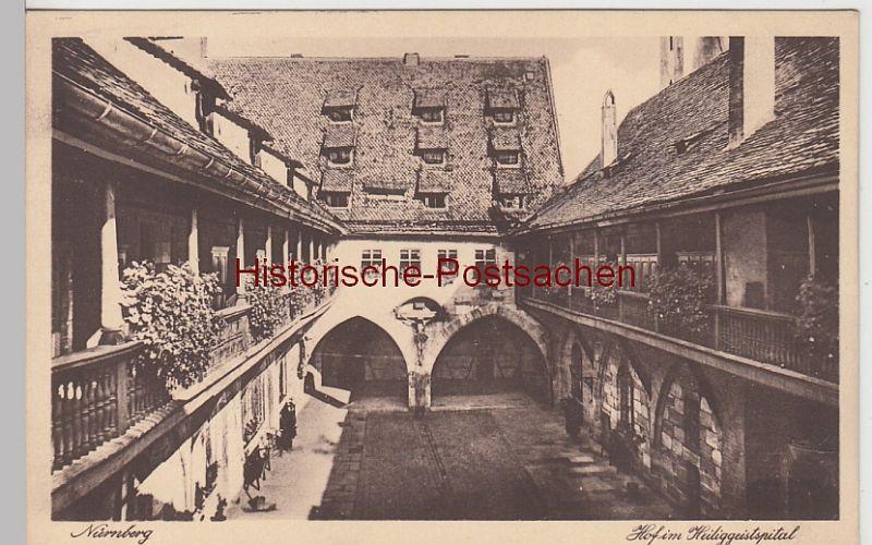 (107502) AK Nürnberg, Hof im Heiliggeistspital, vor 1945