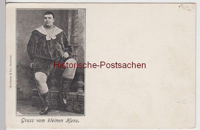(107664) AK Gruss vom kleinen Hans, übergewichtiger Junge, vor 1905