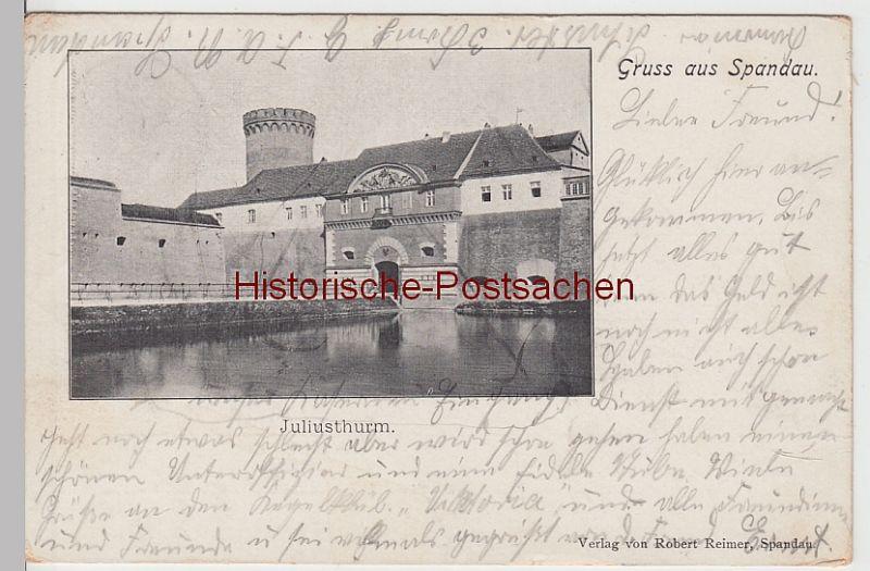 (108812) AK Gruß aus Spandau, Berlin, Haselhorst, Juliusturm 1899