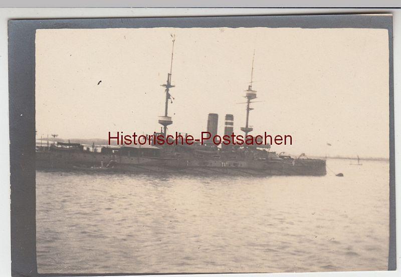 (F11015) Orig. Foto Englisches Kriegsschiff, 1913