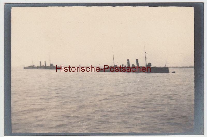 (F11016) Orig. Foto Englische Kriegsschiffe, 1913