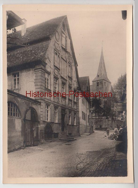 (F11088+) Orig. Foto Neckarsteinach, Geburtshaus d. Patronella Spitz, Kirchenstraße 73, um 1920