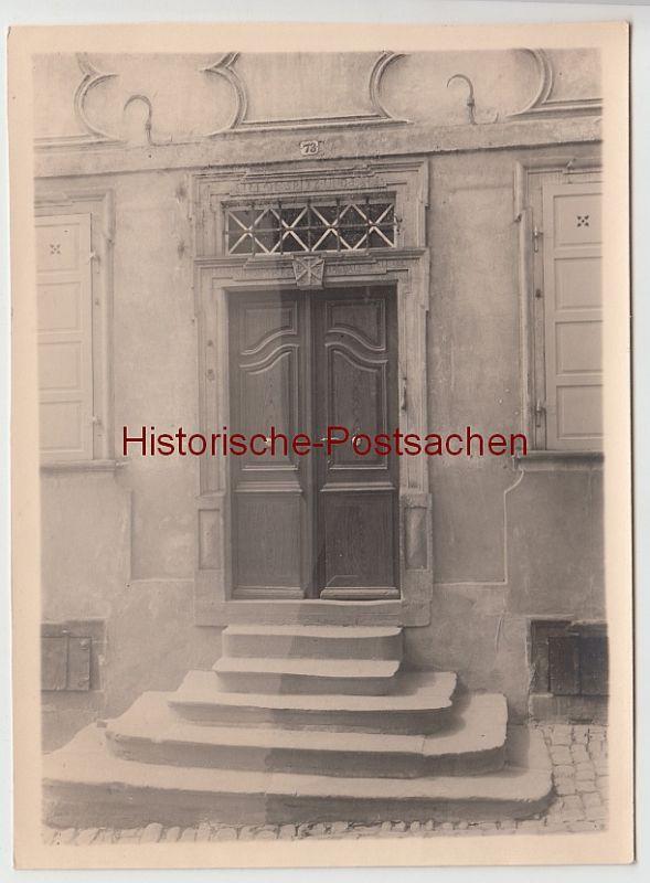 (F11089+) Orig. Foto Neckarsteinach, Geburtshaus d. Patronella Spitz, Kirchenstraße 73, um 1920