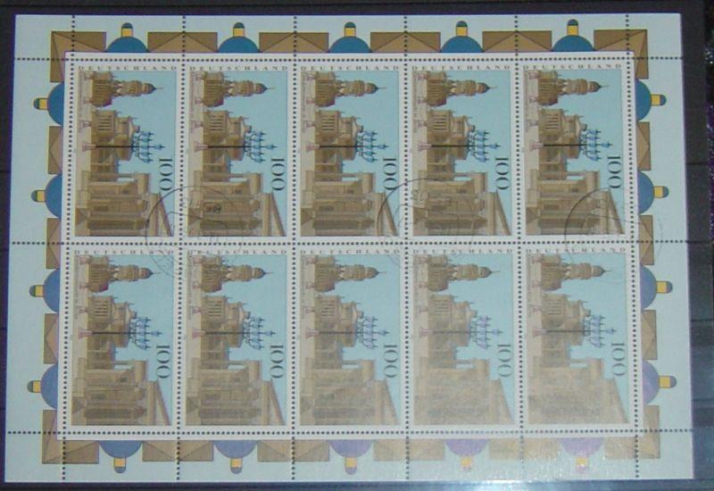 Bund Kleinbogen gestempelt Michel Nr. 1877 aus dem Jahr 1996. Katalogpreis Michel 2010/2011 11,- Euro