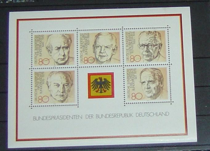 Bund Block 18 Michel Nr. 1156-1160 Michel 2010-2011 6,50 Euro postfrisch