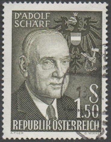 1960 Österreich MiNr. 1075 gestempelt 1,50 Schilling Dr.Adolf Schärf