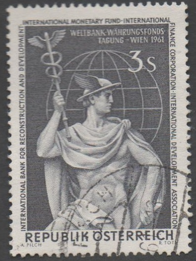 1961 Österreich MiNr.1097 gestempelt  3 Schilling Weltbank Konferenz in Wien