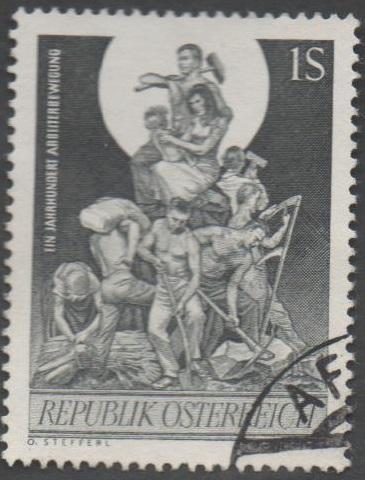 1964 Österreich MiNr. 1172 gestempelt 100 Groschen 10 Jahre Arbeiterbewegung