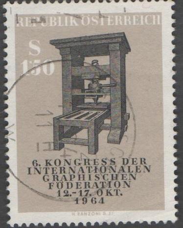 1964 Österreich MiNr. 1175 gestempelt 150 Groschen Kongress der Internationalen Graphiker