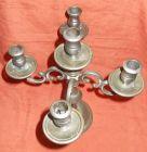 Kandelaber Kerzenst�nder  Kerzenleuchter Zinn 5 flammig Zinnguss