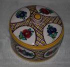 Dose Deckeldose Keramik handgemalt handsigniert und numeriert florale Malerei