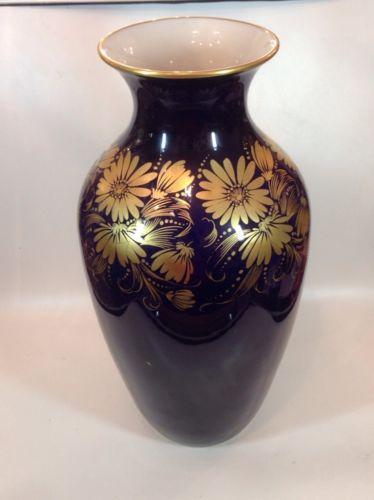 hutschenreuther echt kobalt vase 35 cm 12382 nr 321520566757 oldthing hutschenreuther. Black Bedroom Furniture Sets. Home Design Ideas