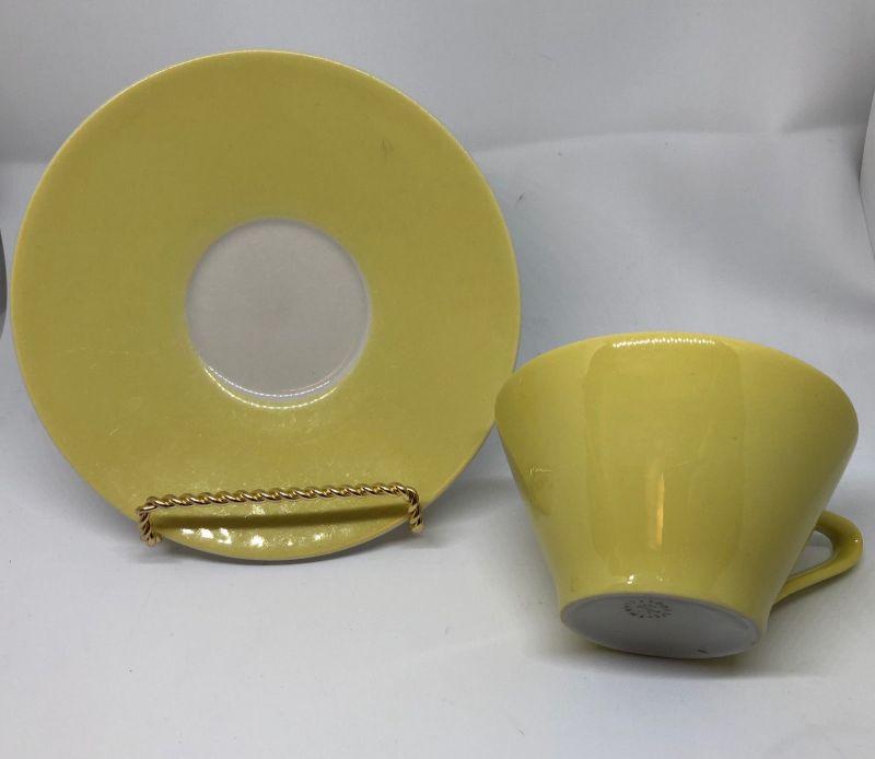 Lilienporzellan Teetasse gelb Nr. 22