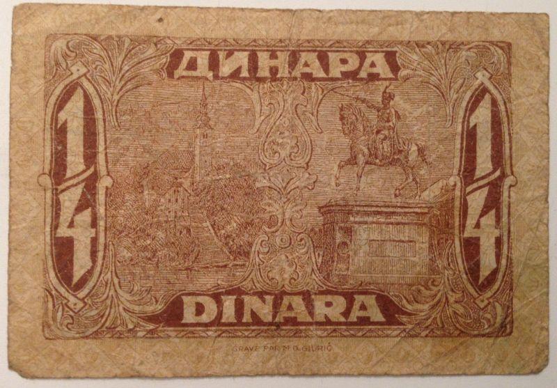 1/4 Dinara Kraljevina Srba, hrvata i Slovenaca  Königreich SHS   12068