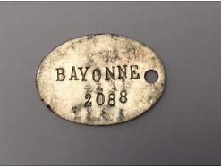 Erkennungsmarke WW I vermutlich Frankreich Bayonne 18022