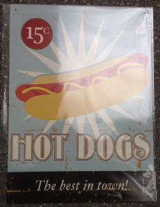 Hot Dogs Best in Town  30x40 cm     11998