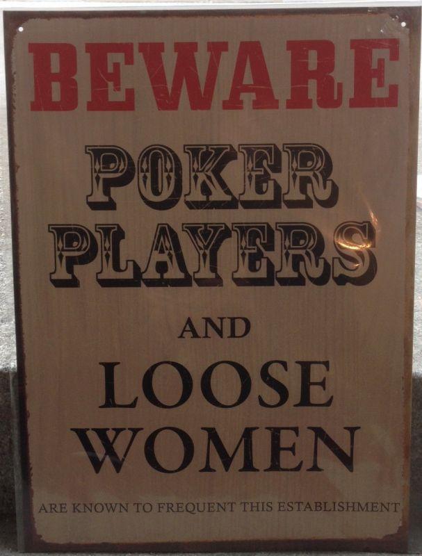 Beware  Poker Players  30x41 cm     11995