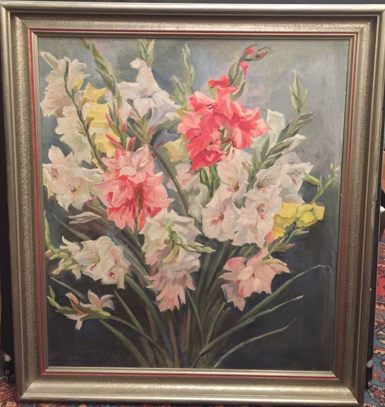 Stilleben Blumen Maria Kiraly Öl/Leinwand gerahmt 18016