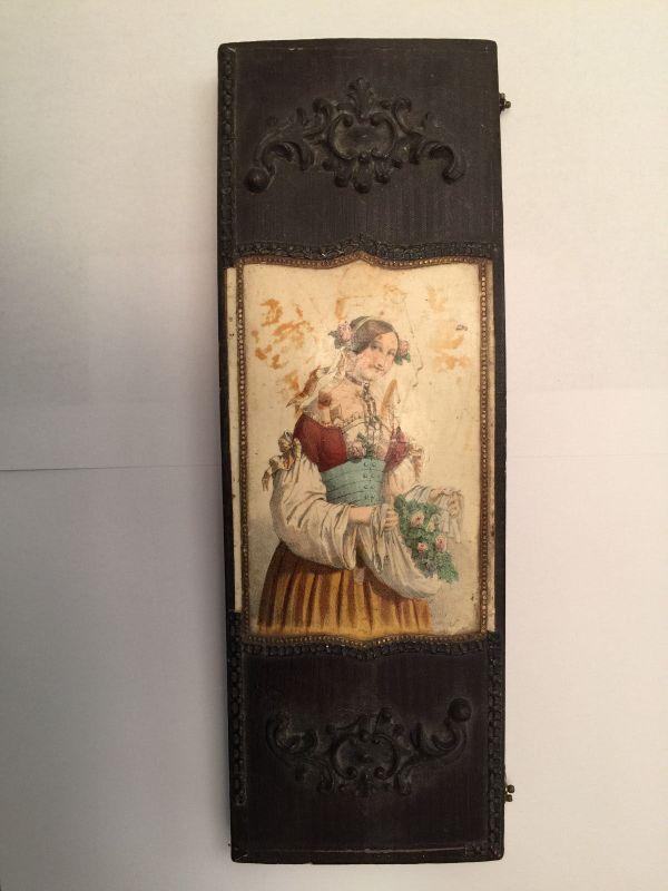 Taufbesteck Kasten Biedermeier Silber 17804