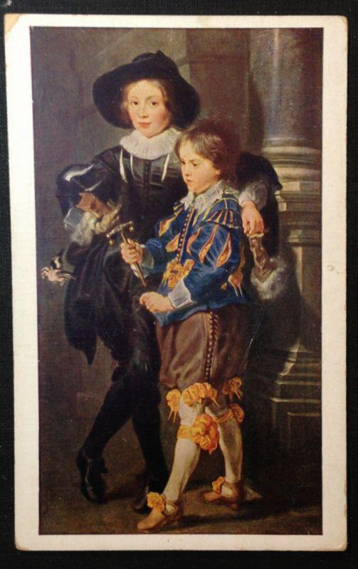 Künstlerkarte  Rubens Die beiden Söhne des Künstlers   11253