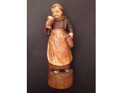 Mönch Holz handgeschnitzt ca. 40 cm Hoch 12479
