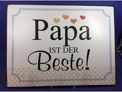 Papa ist der Beste Blechschild ca. 26.5 X 35 17007