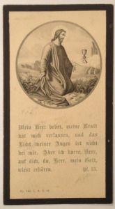 Sterbebild Austragsgütlerin in Walding Pfarrei Pleistkirchen    11138
