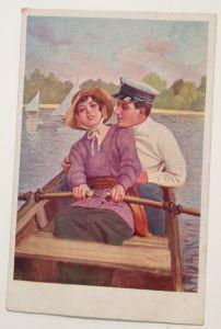 Liebespaar im Boot Matrose  11558
