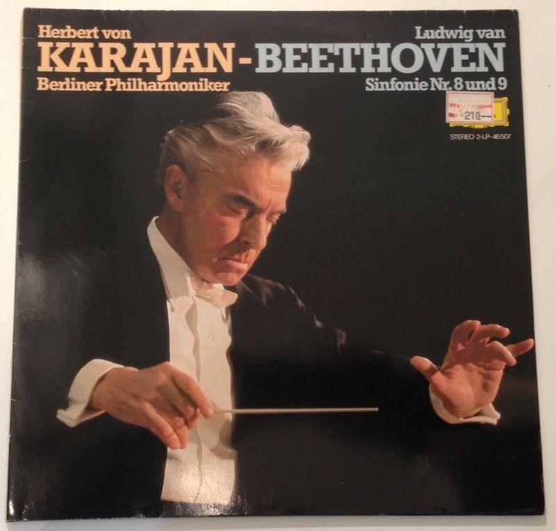 2 x LP Karajan - Beethoven - Sinfonie Nr. 8 und 9 11643