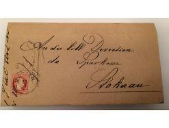 Brief mit Siegel Stockerau 5 Kreuzer 14546A
