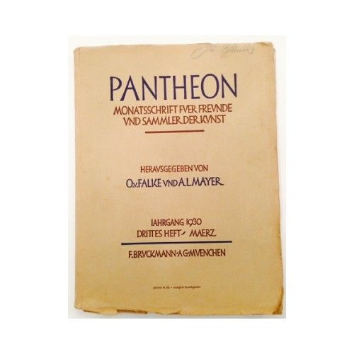 Pantheon : internationale Jahreszeitschrift für Kunst [Zeitschrift. Monats 10061