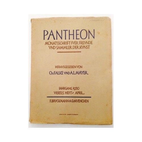 Pantheon : internationale Jahreszeitschrift für Kunst [Zeitschrift. Monats 10058