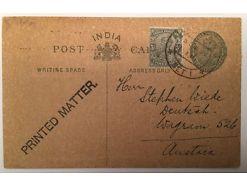 Indien India Ganzsache 1920 14551