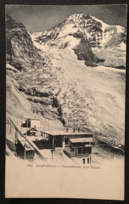 Jungfrauenbahn Eigergletscher und Mönch   11258