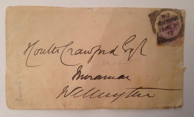 Brief Neuseeland New Zeeland 1884 14099