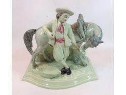 Eichwald Figur Knabe mit Pferd Horse  19 Jhdt. 12554